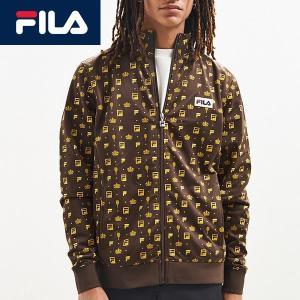 FILA フィラ ジップアップパーカー裏起毛ロゴ総柄 インポートブランド|californiastyle