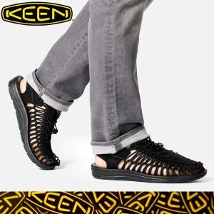 KEEN キーン正規品メンズサンダル ユニークMEN'S UNEEK BLACK/|californiastyle
