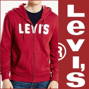 Levi's リーバイス ジップアップパーカー 正規品 赤|californiastyle