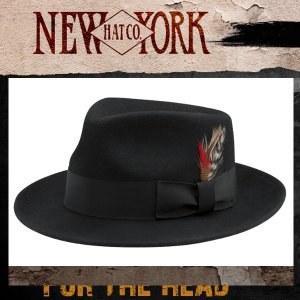 New York Hat ニューヨークハット ライト フェルト ギャングスタ帽子|californiastyle