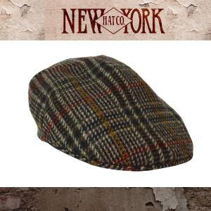 NEW YORK HATニューヨークハット ハンチング グレンチェック柄Lined Woolrich Plaid Pub|californiastyle