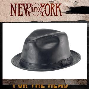 New York Hat Lambskin ニューヨークハット ラムスキンフェドラ|californiastyle