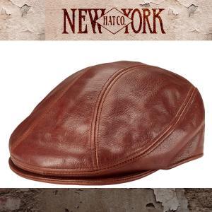 NEW YORK HAT ニューヨークハット ビンテージレザー ハンチング 帽子BRANDY メンズ|californiastyle