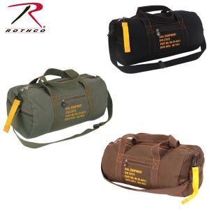 ROTHCO ロスコ正規品アメリカ買い付け ミリタリーブランド CANVAS EQUIPMENT BAG キャンバス生地ボストンバッグ|californiastyle