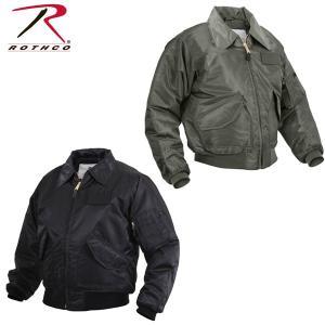 Rothco ロスコ正規品メンズミリタリージャケットフライトジャケット黒グリーンCWU-45P Flight Jacket|californiastyle