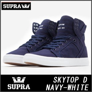 SUPRAスープラ スカイトップ スニーカーSKYTOP D / NAVY CANVAS. GUM SOLE S98004|californiastyle