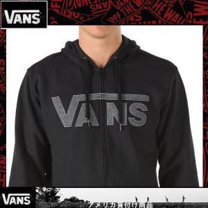パーカー メンズ VANS ヴァンズ バンズ ジップアップパーカー 黒 ブラック|californiastyle