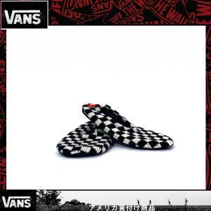 VANS  バンズ スリッパ Womens Slippin Slippers 黒×白チェック|californiastyle