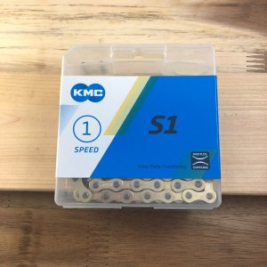 KMC チェーン S1 GOLD 112リンク ゴールド シングルスピード calm-runon
