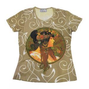 (アート半袖・プリントTシャツ)アルフォンスミュシャ ブルーネット(T-W020-MU01)|calmlife2nd