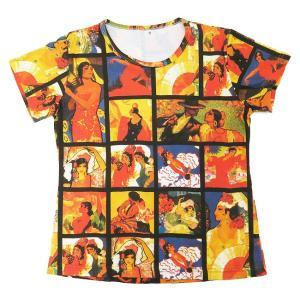 (アート半袖・プリントTシャツ)フラメンコ・タイル(T-W020-SP11)|calmlife2nd