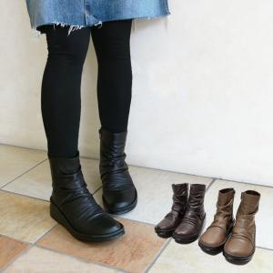 本革 日本製 ショートブーツ(セール価格) (In Cholje(インコルジェ))クシュッと、品良く履きたいショートブーツ(FOO-SP-8209)H5.0|calmlife2nd