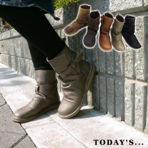ショートブーツ 日本製 本革 (Today's)くしゅくしゅ柔らか。クロスベルト・ショートブーツ。しっとり上質本革オイル仕上げ(FOO-FT-1233)|calmlife2nd