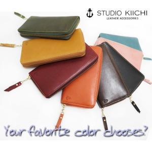 (STUDIO KIICHI(スタジオキイチ))くたっと柔らか本革にイカリマークのシンプルロゴ。・大人のカワイイを作る財布・(FA-WA-KW105)|calmlife2nd