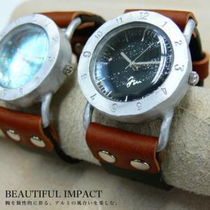 【職人手作り★アンティーク風腕時計】アルミベゼルで優しい美しさの腕時計[レディース&メンズ][S-M-JFB-05] calmlife2nd