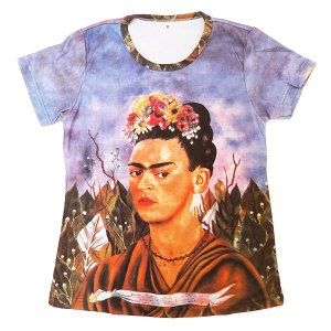 (アート半袖・プリントTシャツ)フリーダ・カーロ『フリーダ・カーロの自画像』 (T-W020-FURI01)|calmlife2nd
