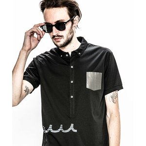 【ACANTHUS(アカンサス)】ACANTHUS×mutaleather pocket polo shirt ポロシャツ(MA1907)|cambio