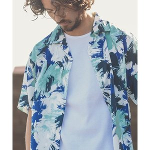 【ANGENEHM(アンゲネーム)】Geometric Open Color Shirts(MADE IN JAPAN) シャツ(ANG9-002)|cambio