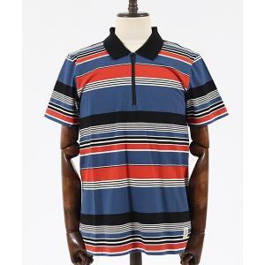 【Nudie Jeans(ヌーディージーンズ)】MIKAEL MULTI STRIPE ZIPPER ポロシャツ(131622)|cambio