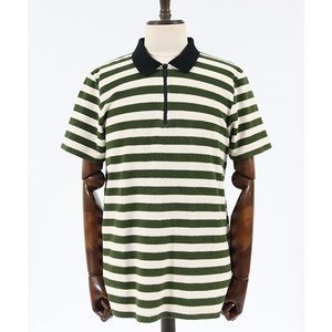 【Nudie Jeans(ヌーディージーンズ)】MIKAEL BLOCK STRIPE ZIPPER ポロシャツ(131620)|cambio