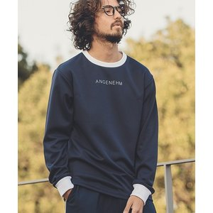 【ANGENEHM(アンゲネーム)】Rib Switch Smooth Long Sleeve Tee(MADE IN JAPAN) Tシャツ(ANG9-013)|cambio