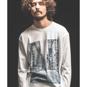 【Jih Nunc(ジーヌンク)】ロングスリーブプリントTシャツ -ENJOY THE WORLD-(STC144L) cambio