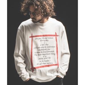 【Jih Nunc(ジーヌンク)】ロングスリーブプリントTシャツ -IJIN MEIGEN SHU-(STC147L) cambio