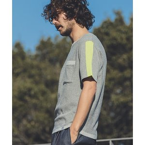 【ANGENEHM(アンゲネーム)】Line Sleeve Summer Knit Tee(MADE IN JAPAN) Tシャツ(ANG19-039)|cambio