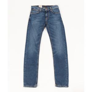 【Nudie Jeans(ヌーディージーンズ)】THIN FINN MID BLUE ECRU デニムパンツ(112943032)|cambio