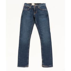 【Nudie Jeans(ヌーディージーンズ)】TIGHT TERRY MID BLUE ORANGE デニムパンツ(112944030)|cambio