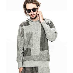 【ACANTHUS(アカンサス)】patchwork hand dyehooded sweatshirt パーカー(HJ1902)|cambio