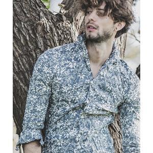 【felkod(フィルコッド)】Flower Pattern Crinkle Shirts シャツ(F19S070)|cambio