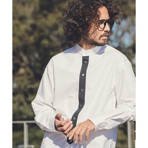 【ANGENEHM(アンゲネーム)】Placket Switch Typewriter Long Length Shirts(MADE IN JAPAN) シャツ(ANG9-023)|cambio