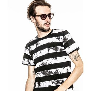 【ACANTHUS(アカンサス)】embroidery logo uneven dyeborder Tee Tシャツ(CT1907)|cambio