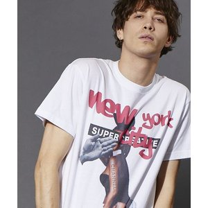 【attack the mind 7】OMIYAGE WHITE TEE-NEW YORK CITY BUNNY GIRL Tシャツ(OMY047-CT01)|cambio