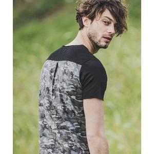 【felkod(フィルコッド)】Back Camouflage Short Sleeve Cut Off Cut sew カットソー(F19S140)|cambio
