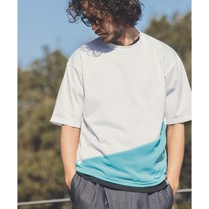 【ANGENEHM(アンゲネーム)】Cloth Switch Asymmetry Big Tee(MADE IN JAPAN) Tシャツ(ANG9-024)|cambio