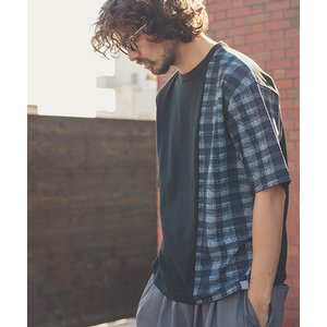 【ANGENEHM(アンゲネーム)】Shoulder Switch Big Tee(MADE IN JAPAN) Tシャツ(ANG9-031)|cambio