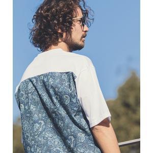 【ANGENEHM(アンゲネーム)】Back Paisley Big Tee(MADE IN JAPAN) Tシャツ(ANG9-028)|cambio