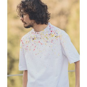 【ANGENEHM(アンゲネーム)】ACANTHUS×ANGENEHM Hand Splash Big Tee(MADE IN JAPAN) Tシャツ(CT1903AN)|cambio