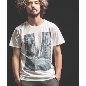 【Jih Nunc(ジーヌンク)】プリントTシャツ -ENJOY THE WORLD-(STC144) cambio