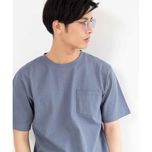 【CAMBIO(カンビオ)】度詰め天竺ポケット付きTシャツ|cambio