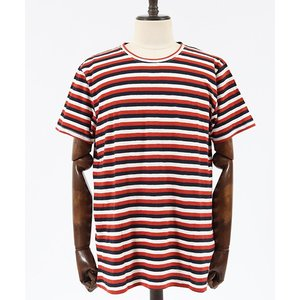 【Nudie Jeans(ヌーディージーンズ)】ANDERS TRICOLOUR STRIPE Tシャツ(131623)|cambio