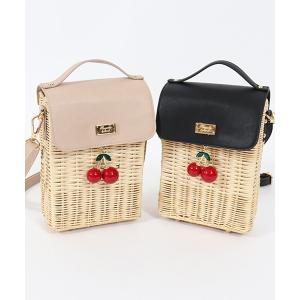 【honey salon(ハニーサロン)】cherryラタンショルダー バッグ(SA91F0J1950)|cambio
