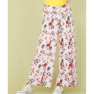 【Little sunny bite(リトルサニーバイト)】little sunny bite ×Clap Clap hibiscus print pants パンツ(LSB-LPT-160L)|cambio