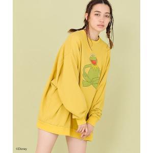 【Little sunny bite(リトルサニーバイト)】litle sunny bite ×muppets Kermit big sweater スウェット(LSB-LTOP-150L)|cambio