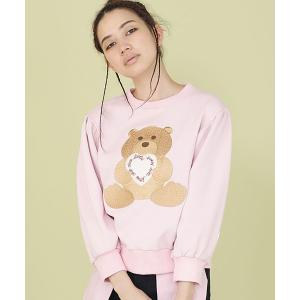 【Little sunny bite(リトルサニーバイト)】little sunny bite ×Clap Clap bear stiched sweater(LSB-LTOP-157L)|cambio