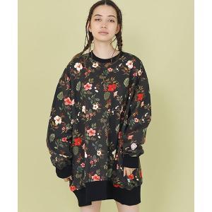 【Little sunny bite(リトルサニーバイト)】little sunny bite × Clap Clap : hibiscus print big sweater(LSB-LTOP-159L)|cambio