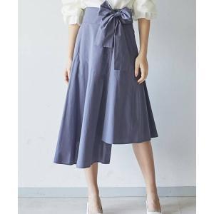【LAGUNAMOON(ラグナムーン)】アシンメトリーシャツフレアースカート(031920800701)|cambio