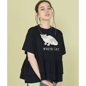 【Little sunny bite(リトルサニーバイト)】little sunny bite × Clap Clap : Stiched frill tee Tシャツ(LSB-LTOP-156L)|cambio
